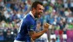 Форвард Кассано признан лучшим игроком матча Италия - Ирландия на Евро